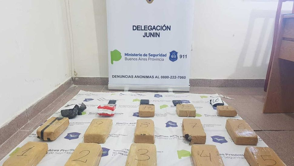 En un predio cerca del Aeródromo, se incautó 15 kilos de marihuana.