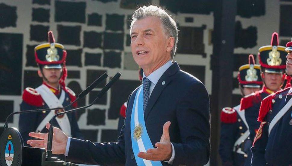 Macri le dio tono de campaña al acto por la Independencia