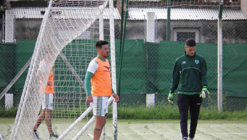 Ariel Cólzera y Facundo Daffonchio, en Ciudad Deportiva.