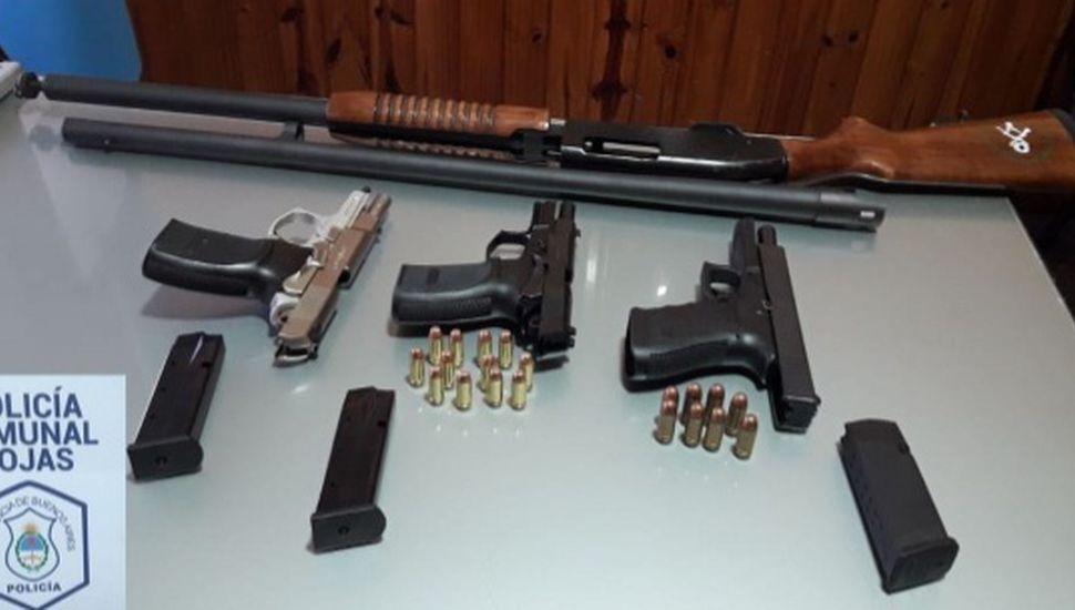 Un aprehendido en Rojas por portación ilegal de armas de guerra