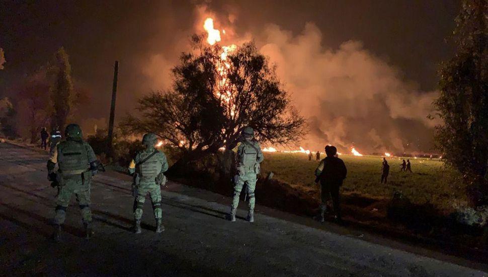La explosión dejó una terrible secuela de muertos y decenas de heridos, algunos de extrema gravedad.