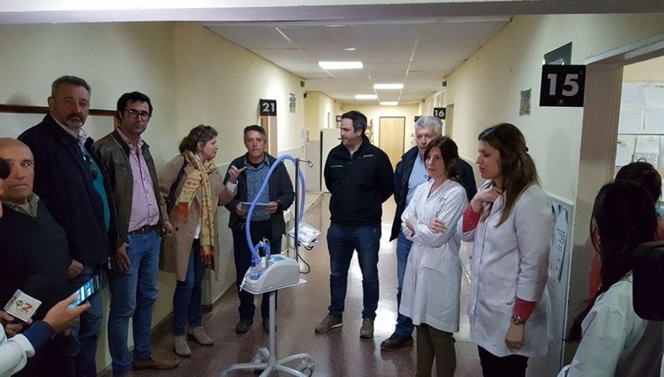 El Hospital Unzué recibió equipamiento para el área de Pediatría