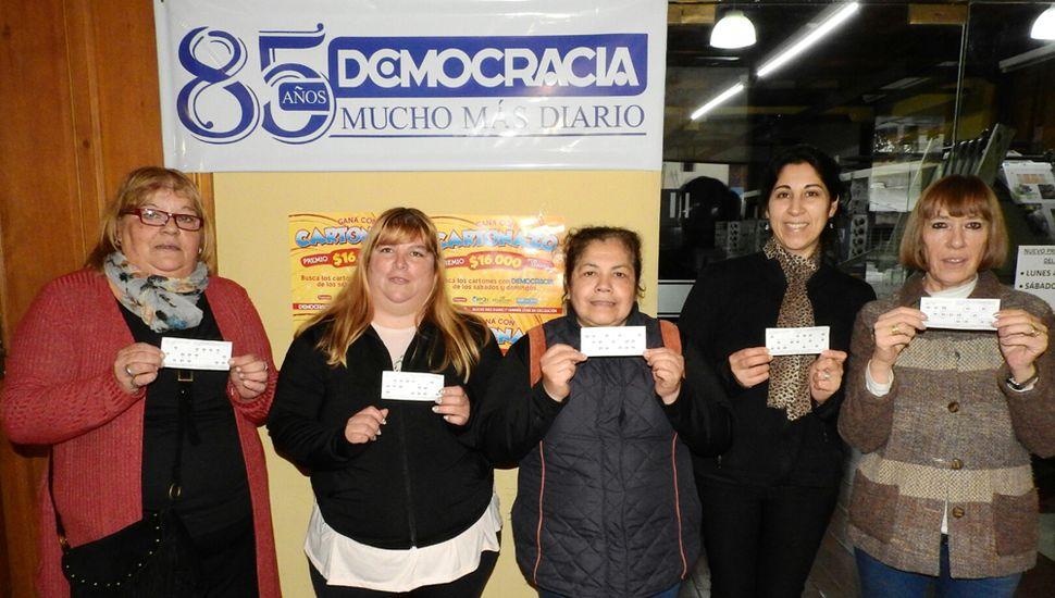 Celina Vaninetti, Carmen Córdoba, Mónica Azcurra Andrea Bustos y María Eugenia García ganaron el anterior pozo récord de 112 mil pesos.