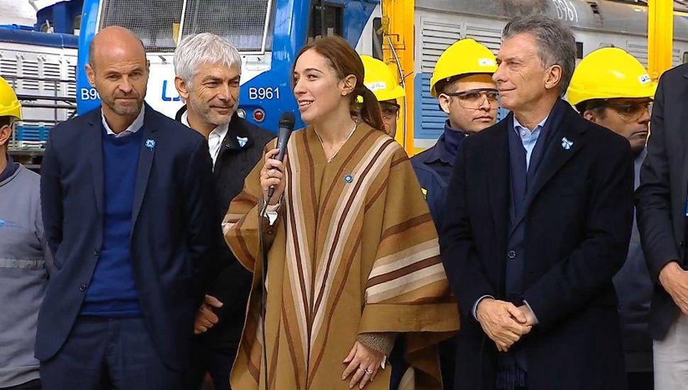 Macri, Vidal y Dietrich en Mechita.