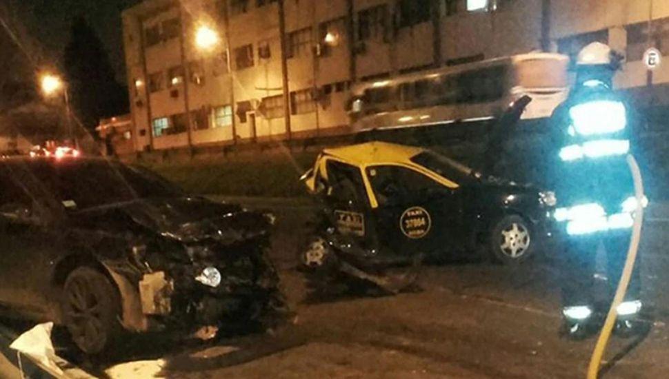 Estado en que quedaron los vehículos, en el accidente en que se vio involucrado el ex jugador de Boca.