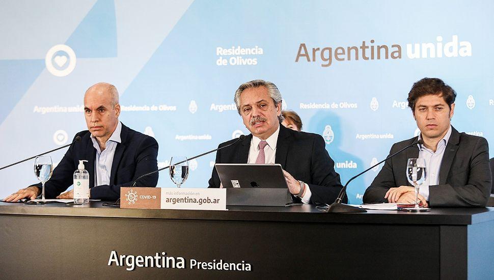 """Alberto Fernández: """"Vamos a sostener el aislamiento social en todos los lugares en el que haya circulación comunitaria del virus"""""""