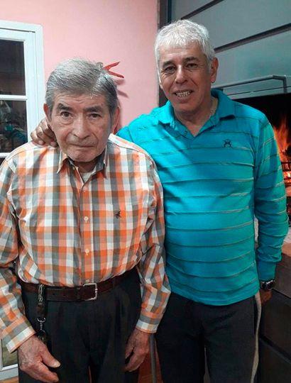 Andrés Mansilla, padre e hijo.