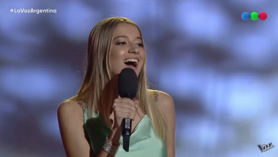 Isabel Aladro, la más votada del Team Tini en La Voz Argentina