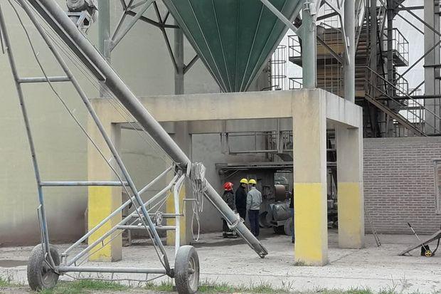 Así quedó la planta de silos después de la explosión