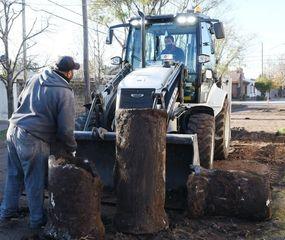 Arrancaron los trabajos preliminares para la obra de pavimento