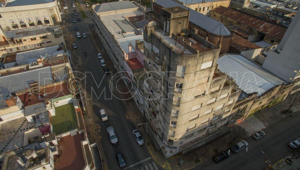 Junín desde el aire: Edificio Conde