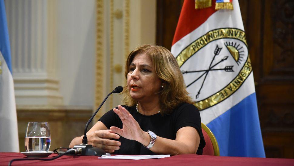 Sonia Martorano, ministra de Salud de Santa Fe.