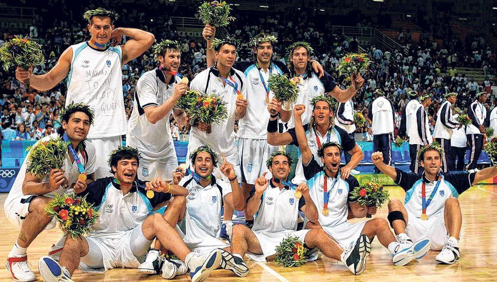 Argentina, medalla de oro en Atenas 2004.