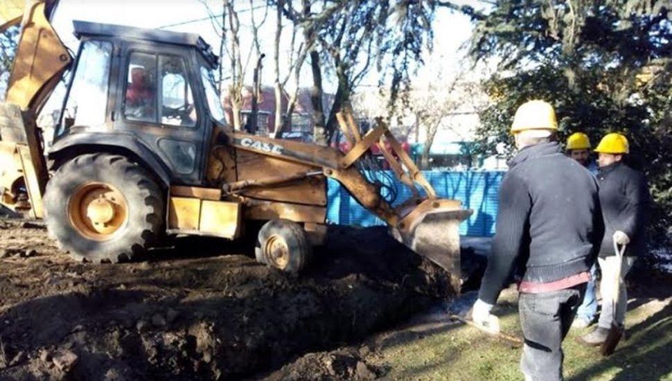 Avanzan las obras públicas en Chacabuco