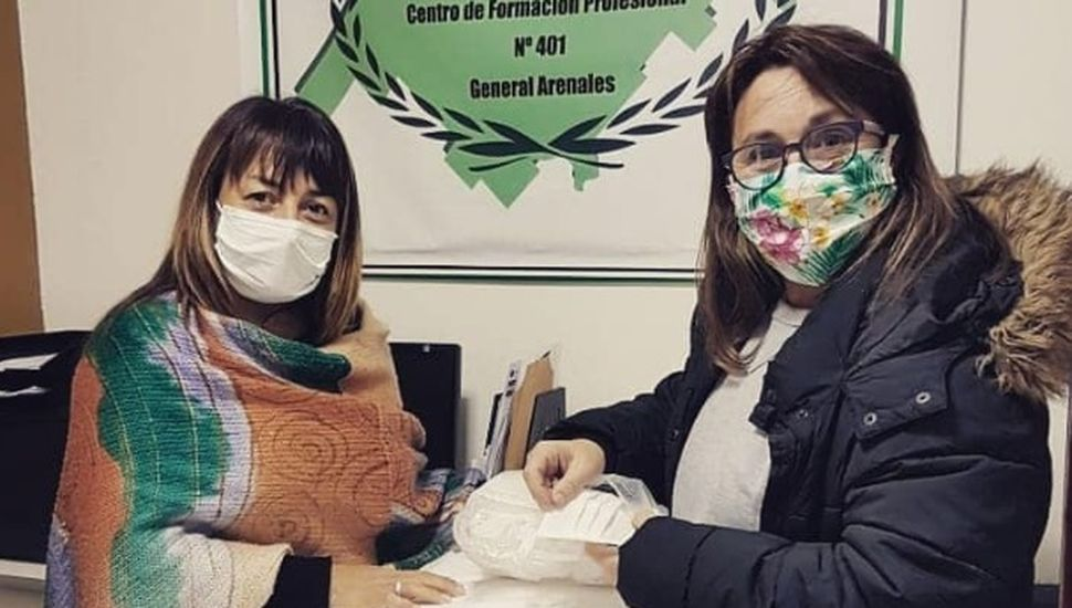 Coronavirus: entregaron una segunda tanda de sábanas y barbijos