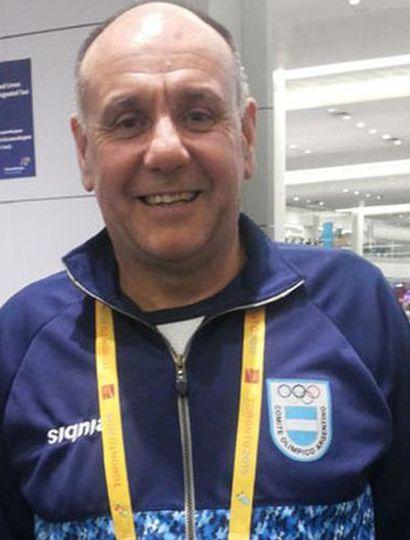 El técnico Guillermo Cáceres.