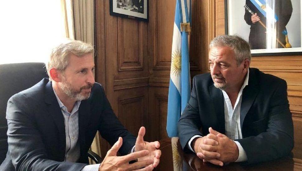 El ministro Rogelio Frigerio recibió al intendente Claudio Rossi
