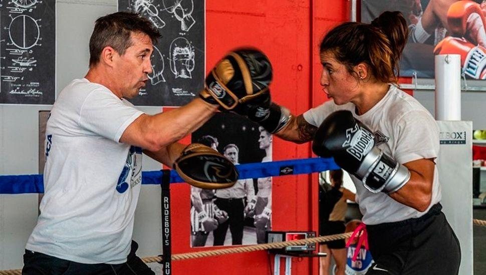 Jorgelina Guanini había entrenado mucho para combatir en España.