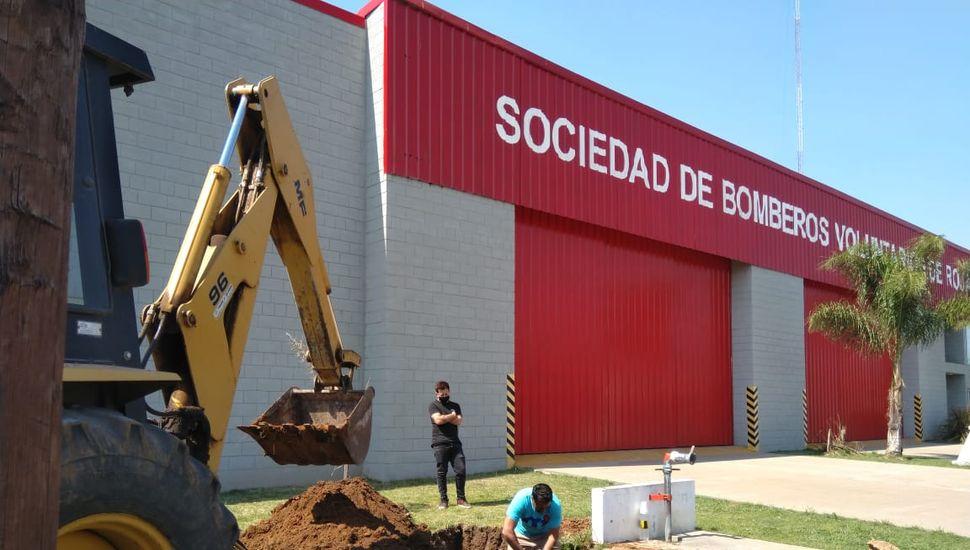 Nueva reserva de agua de los Bomberos Voluntarios de Rojas