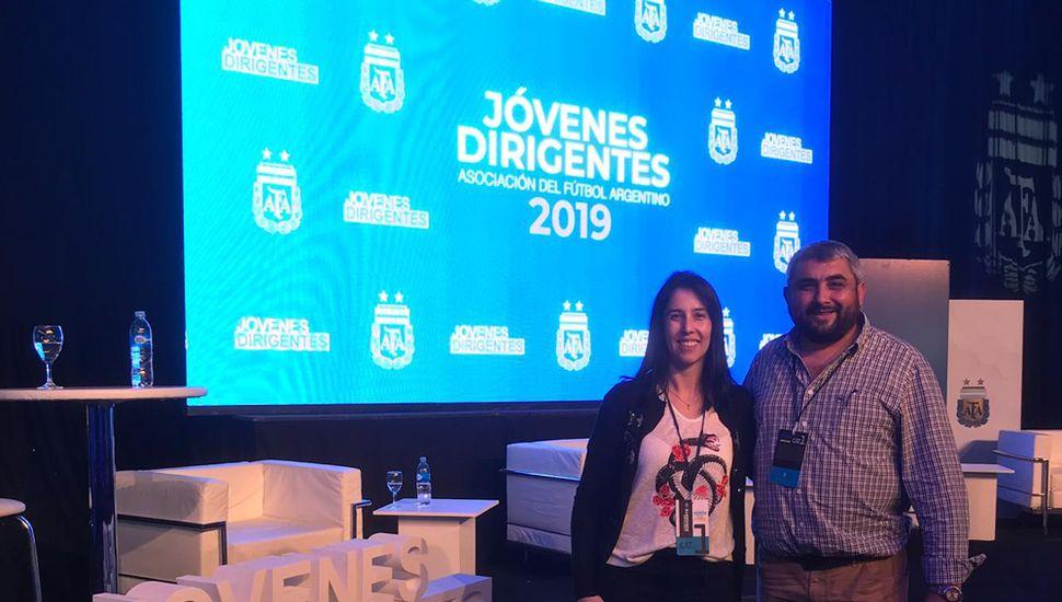 Natalia Avilés y David Forconi durante el encuentro nacional.