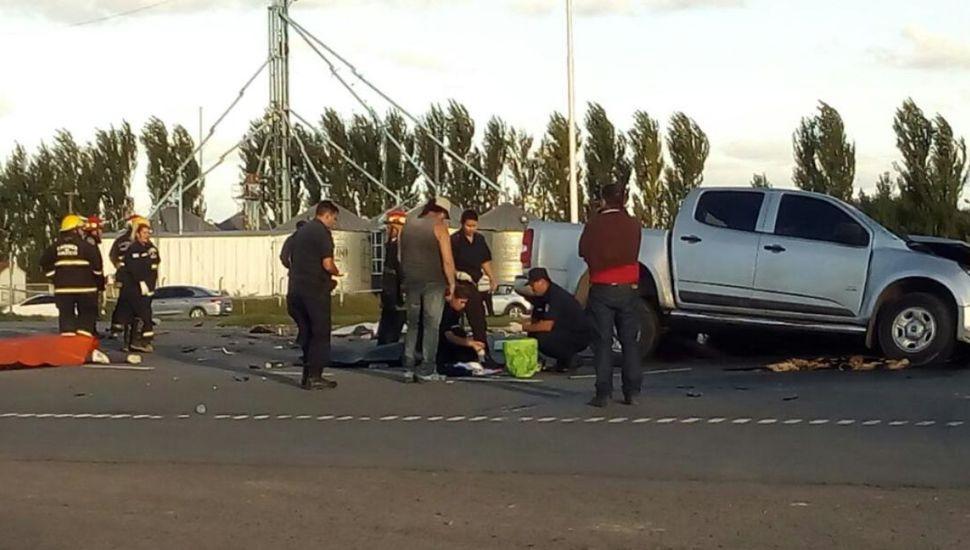 HACE INSTANTES en Carmen de Areco: mueren 9 personas en un accidente sobre Ruta 7