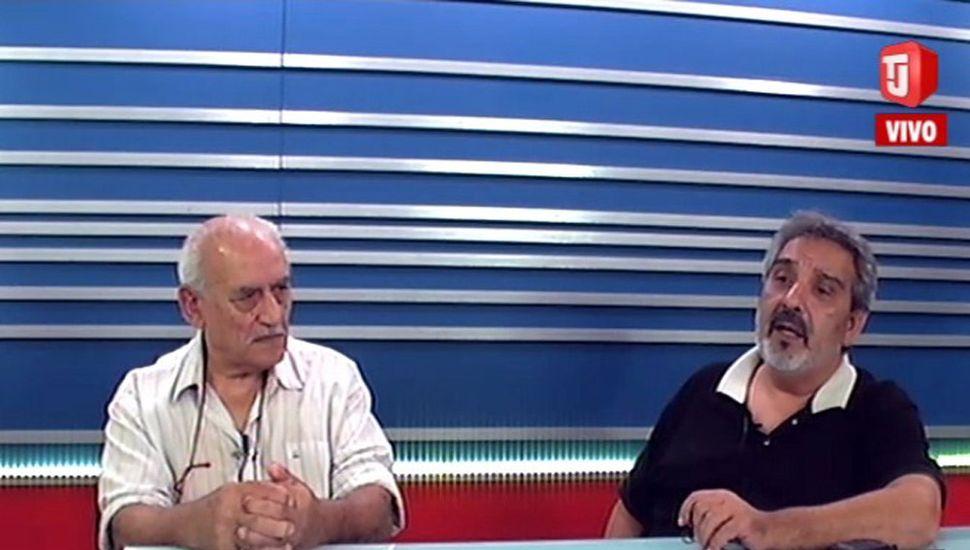 Osvaldo Giapor y Fabián Zapata, dirigentes fomentistas.