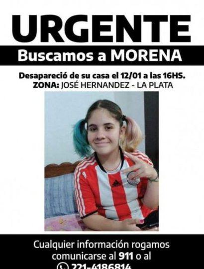 Buscan a adolescente de 13 años en La Plata
