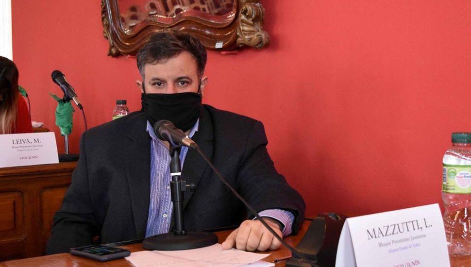 Concejal Lautaro Mazzutti.