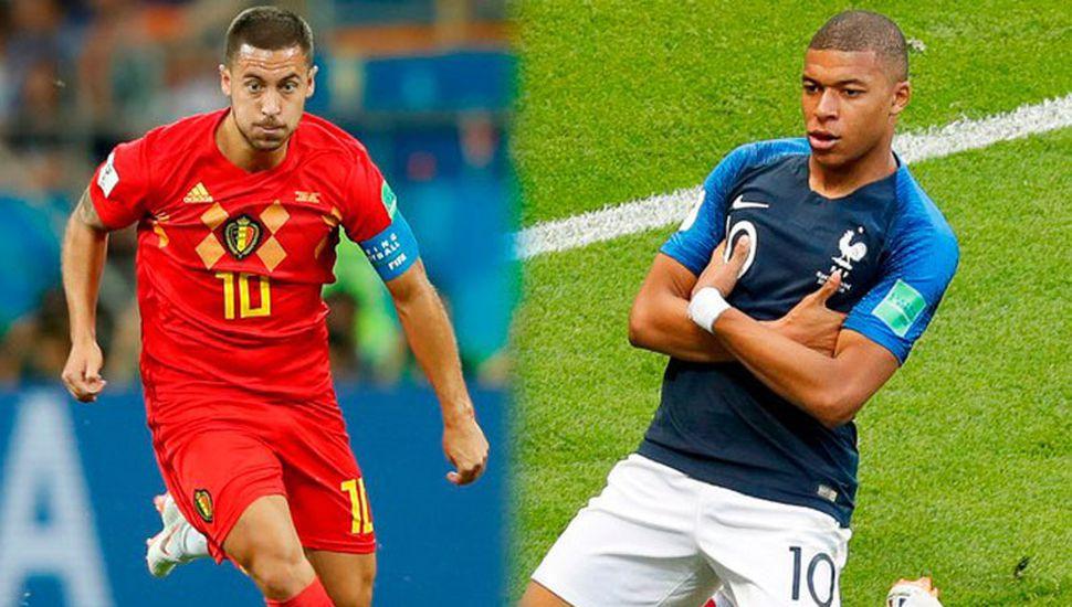 Eden Hazard y Kylian Mbappé.