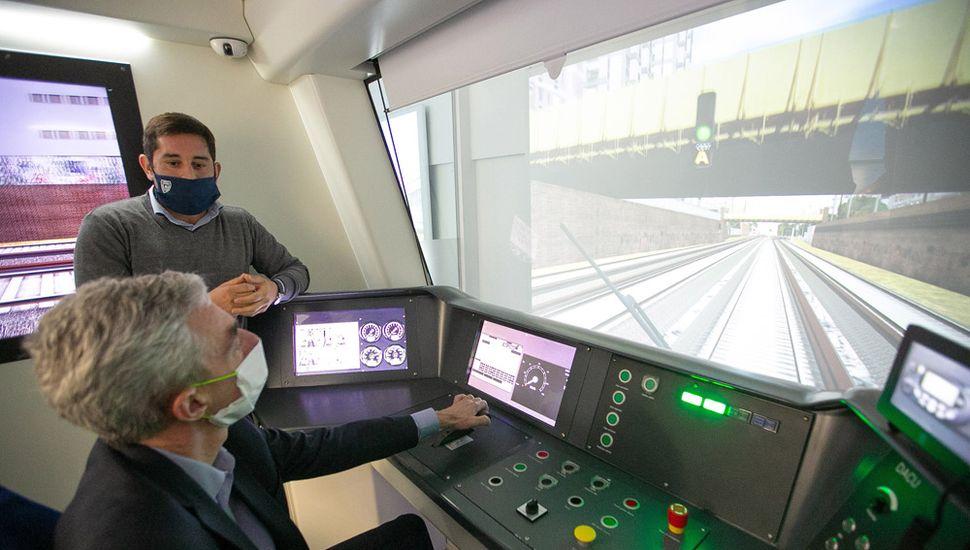 Mario Meoni, en el Centro Nacional de Capacitación Ferroviaria (Cenacaf).