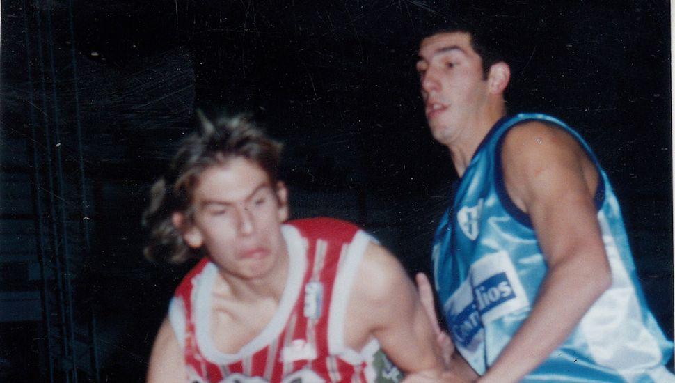 Juan Simoncic ante la marca de Andrés Rico.