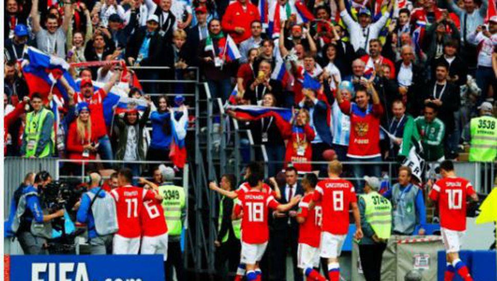 Rusia goleó a Arabia Saudita en el arranque del Mundial
