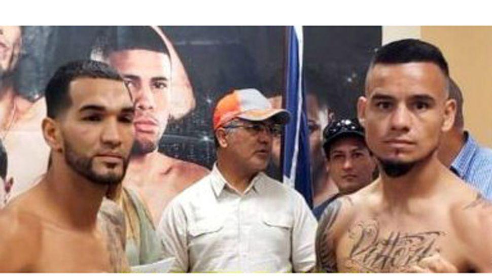 """El argentino Gustavo """"Perrito"""" Víttori (derecha, ex """"Arano Box"""") y su rival de esta noche, el invicto portorriqueño Jovanie Santiago, combatirán hoy en Fajardo."""