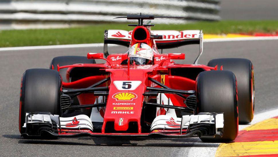 El alemán Sebastian Vettel, con su Ferrari.