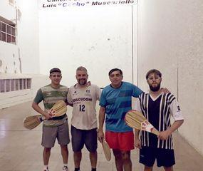 Matias Belosi, Dario Cosentino, Raúl Albornoz y Juancito Cristini, animadores de la velada.
