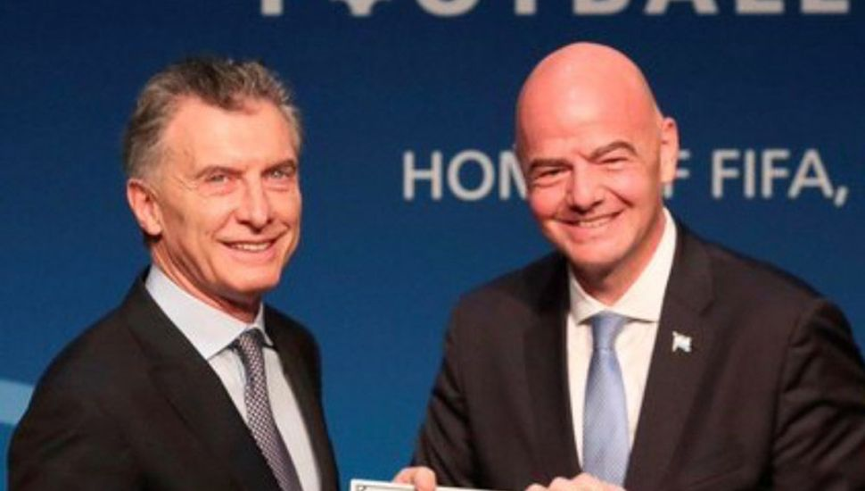 Mauricio Macri y Gianni Infantino.