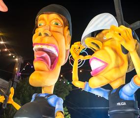 Los mascarones, típicos del carnaval de Lincoln.