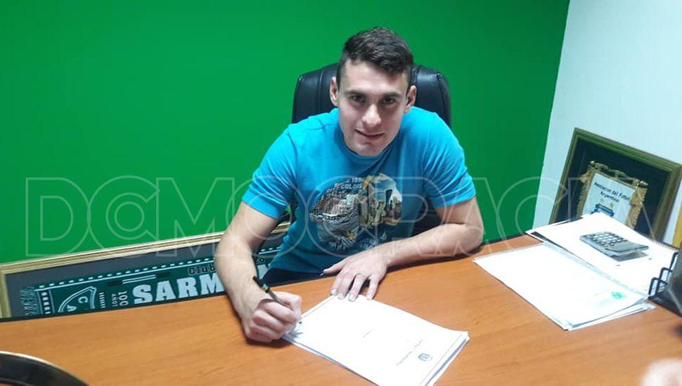Franco Leys firmó y jugará para Sarmiento.