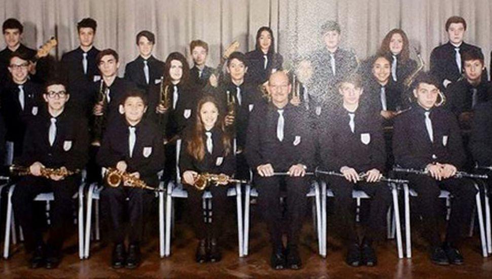 Integrantes de la Banda Municipal Juvenil