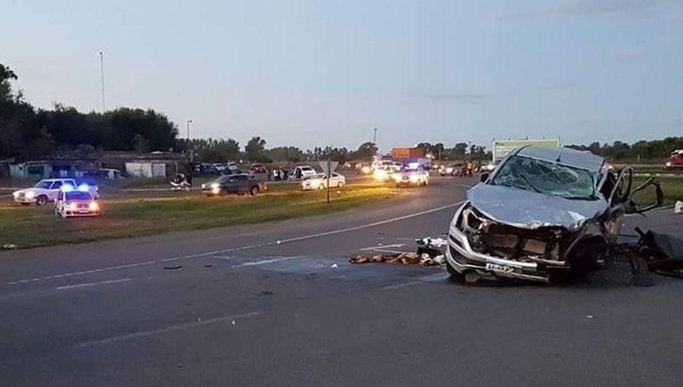 Volkswagen Gol en el que viajaban las mujeres de Areco fallecidas el 14 de abril.