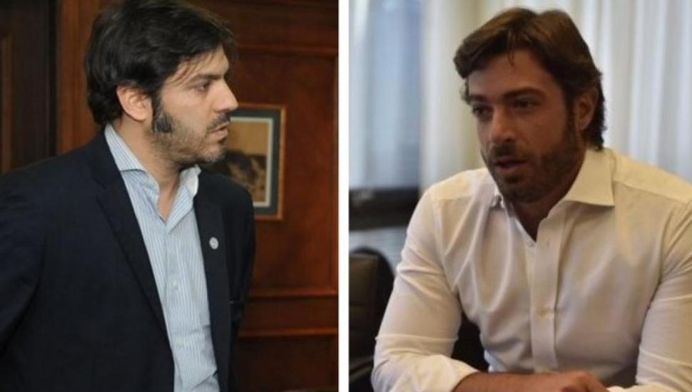 El economista Carlos Bianco, que integra el equipo de Axel Kicillof, y Federico Salvai, jefe de Gabinete de Vidal.