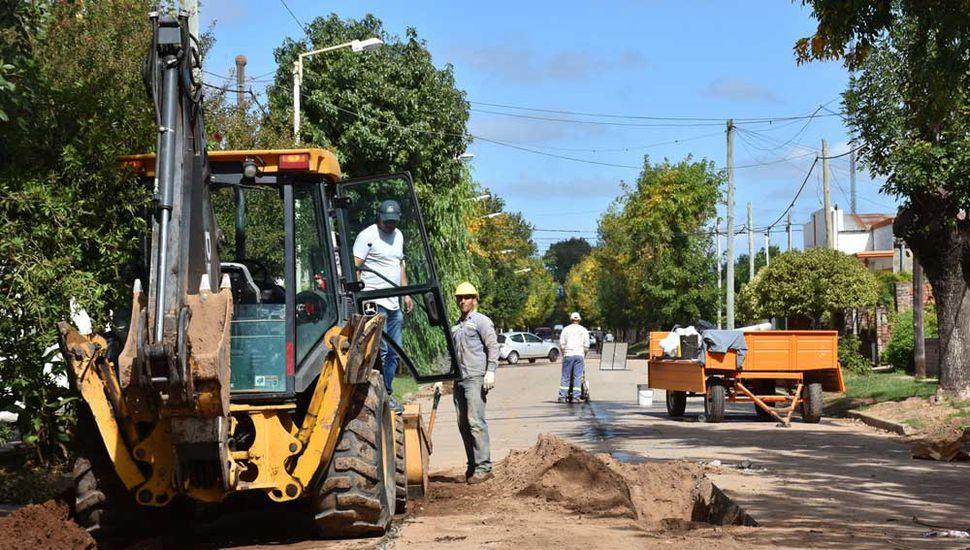 Obras públicas en Arenales.