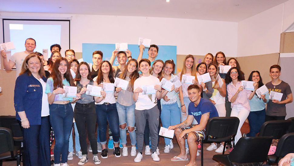 El taller estuvo destinado a alumnos del último año del nivel secundario.
