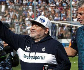 Diego Maradona y Gabriel Pellegrino.