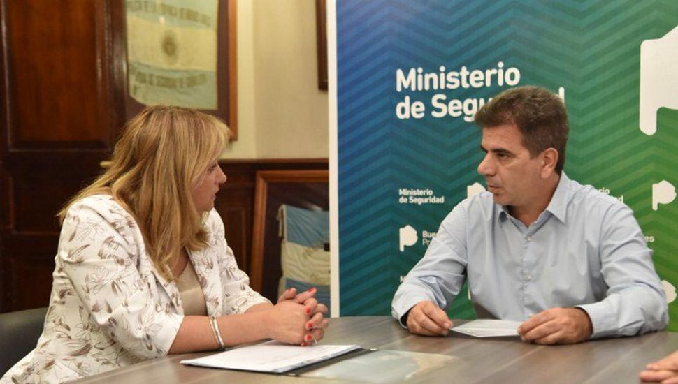 Erica Revilla se reunió con Cristian Ritondo