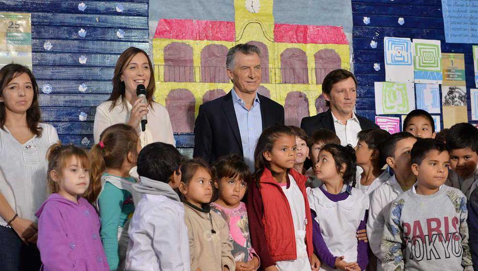 Mauricio Macri y María Eugenia Vidal lanzaron el programa
