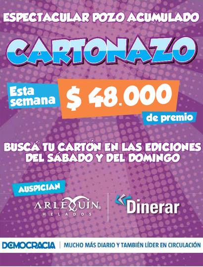 Cartonazo: esta semana el pozo será de 48 mil pesos en efectivo