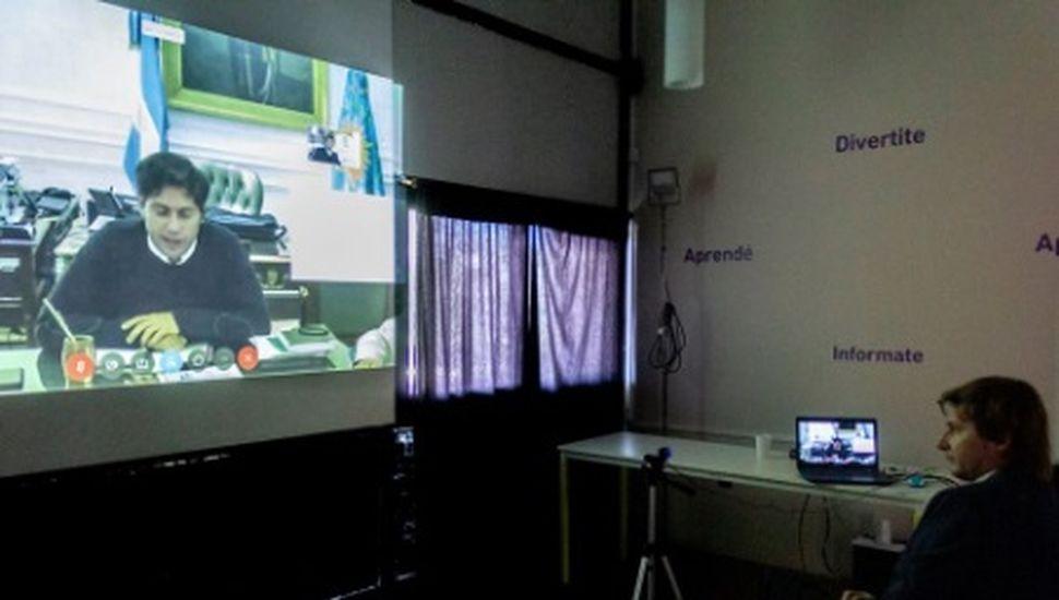 Ferraris se reunió en videoconferencia con Kicillof