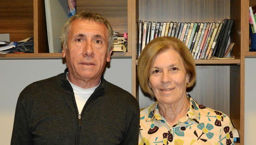 Néstor Domínguez y María Cristina Navone.