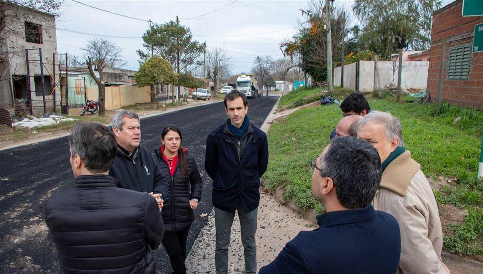 """Petrecca: """"En tres años hicimos 308 cuadras de asfalto cuando antes se hacían 15 por año"""""""